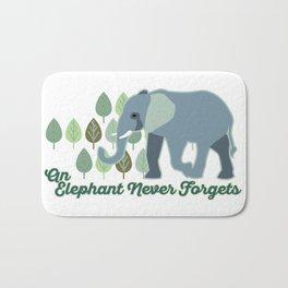 An Elephant Never Forgets Bath Mat