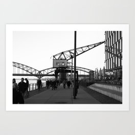 Crane in Harbour Art Print