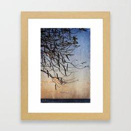 Tree by the Sea Framed Art Print