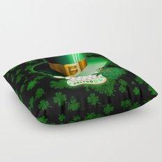 St Patrick Skull Cartoon  Floor Pillow