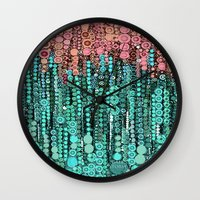 lorde Wall Clocks featuring :: Driving Cadillacs In Our Dreams :: by :: GaleStorm Artworks ::