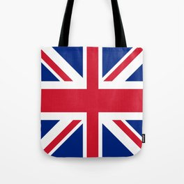 red white and blue trendy london fashion UK flag union jack Tote Bag