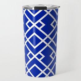 Florida fan gators university orange and blue team spirit football college sports lattice trellis Travel Mug