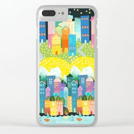 night town Clear iPhone Case