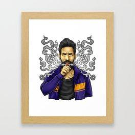 Cloud Chaser - Vaping Bearded Guy Framed Art Print