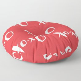 Kisses xoxo Poppy Red Floor Pillow