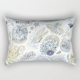Tattoo Pattern Rectangular Pillow