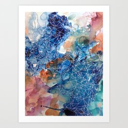She has a lot to say Art Print