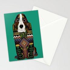 Basset Hound jade Stationery Cards