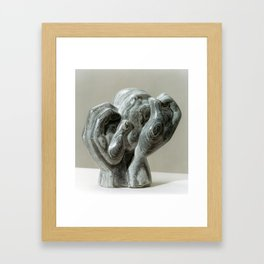 Kneading Hands by Shimon Drory Framed Art Print