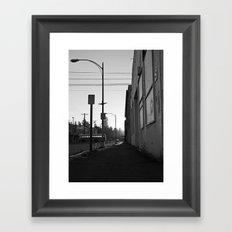 Urban morning Framed Art Print