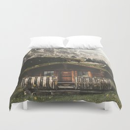 Sheep on the roof Duvet Cover