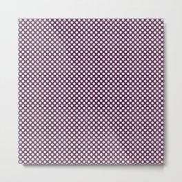 Wild Berry and White Polka Dots Metal Print