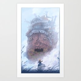 Howl's Castle (No Text) Art Print