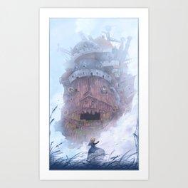 Howl's Castle (No Text) Art Print