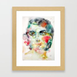 MARIA CALLAS - watercolor portrait Framed Art Print