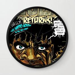 BUCK RETURNS Wall Clock