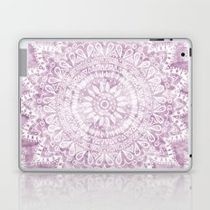 BOHEMIAN FLOWER MANDALA IN PINK Laptop & iPad Skin