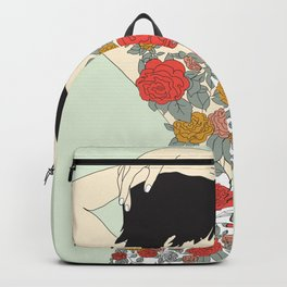 Woman in Floral Dress Backpack