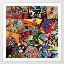 Comic Book Collage Art Print