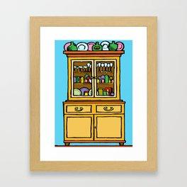 kitchen cupboard art, kitchen cupboard drawings, kitchen decor, Framed Art Print