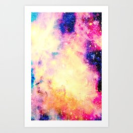 Galaxy: Carina Nebula Colorful Art Print