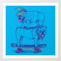 Double Dog Dare Art Print