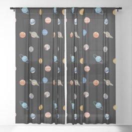 Planet Polka Dots Sheer Curtain