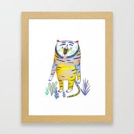 Tiger. tiger art, tiger decor, kids art, Framed Art Print