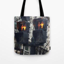 Gay Street Lights (Lesbian Couple) Tote Bag