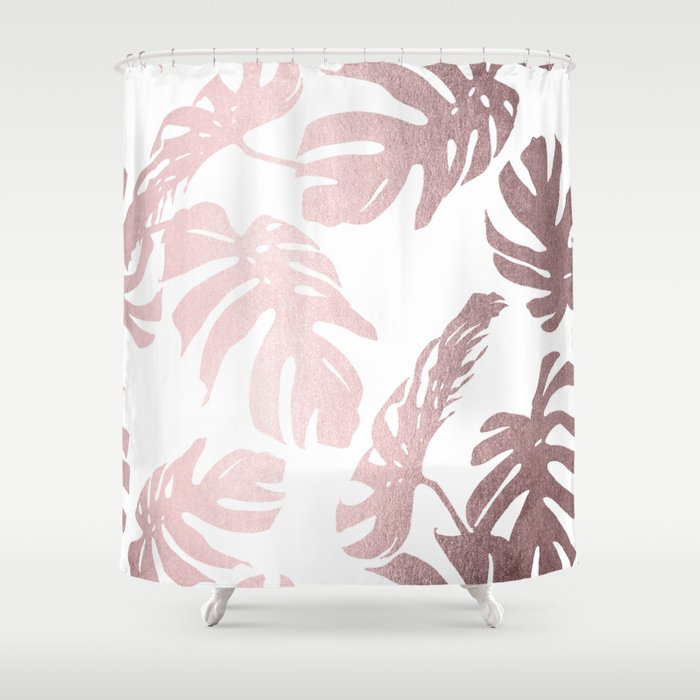 Rose Gold Island Shower Curtain By Followmeinstead