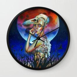 White crow Wall Clock