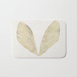 Cicada Wings in Gold Bath Mat