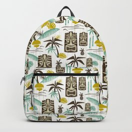 Island Tiki - White Backpack