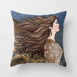 Fionnuala at The Giant's Causeway Throw Pillow