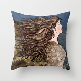 Fionnuala at The Giant's Causeway Throw Pillow