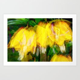 Ode to Spring - Floral Photo Collage Art Print