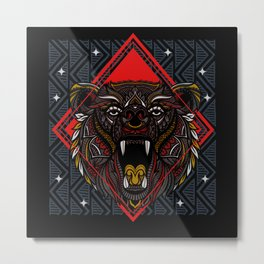 Zodiac, Zodiac Totem, Bear Metal Print