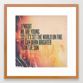 fun. - We Are Young Framed Art Print