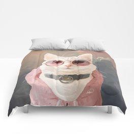 Fashion Portrait Cat Comforters