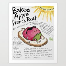 Baked Apple French Toast Art Print