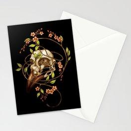 Bird Skull & Vine Stationery Cards