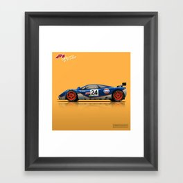 McLaren F1 GTR #02R - 1995 Le Mans 4th place - Side View Framed Art Print