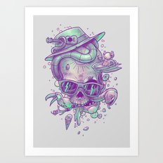 Pale summer skullin' Art Print