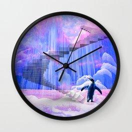 Pingouin sur la banquise  Wall Clock