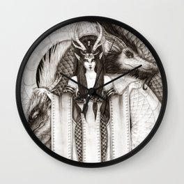 Dragon Priestess of the East Wall Clock