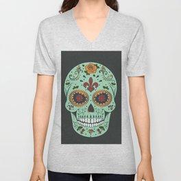 Colorful Skull I Unisex V-Neck