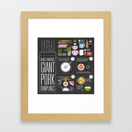 Alan's Favourite Giant Dumplings Framed Art Print