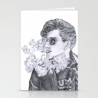 alex turner Stationery Cards featuring Alex Turner by Anja-Catharina