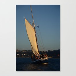 Freda B Sunset sail Canvas Print